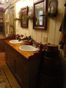 Primitive Bathroom #PrimitiveBathrooms