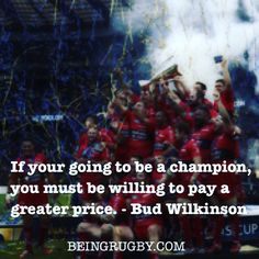 It's going to involve a lot of hard work, sacrifice and dedication. But imagine how good it's going to feel when you make it. Let BeingRugby.com help you on your journey to becoming a champion! Live train and play like a pro.