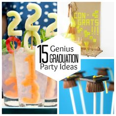 15 Genius Graduation Party Ideas...saving this one for a few years down the road.