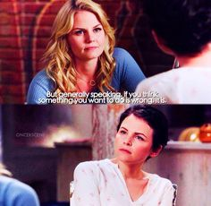 If you think something you want to do is wrong, it is / Emma & Snow / Story Retell, Fact And Opinion, The Shepherd, Animated Cartoons, Cartoon Shows, Emma Swan, Ouat, Best Shows Ever, Movies Showing