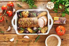 Schab marynowany w musztardzie francuskiej i musztardzie stołowej, czyli pomysł na aromatyczne, pieczone mięso wieprzowe o goryczkowym posmaku. Pycha!