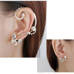 Rhinestone Butterfly Gold Plated Ear Stud Cuff Earrings is designed to show your charm, buy Rhinestone Butterfly Gold Plated Ear Stud Cuff Earrings now! Cuff Earrings, Gold Plated Earrings, Clip On Earrings, Earrings Online, Black And White Earrings, Butterfly Earrings, Ear Studs, 18k Gold, Plating