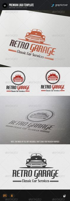 Retro Garage Logo  #GraphicRiver         This logo design for all creative business. Consulting, Excellent logo,simple and unique concept.  Logo Template Features   AI and EPS (Illustrator 10 EPS) 300PPI  CMYK  100% Scalable Vector Files  Easy to edit color / text  Ready to print  Font information at the help file   	 If you buy and like this logo, please remember to rate it. Thanks!     Created: 28September13 GraphicsFilesIncluded: VectorEPS