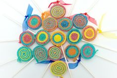 Confetti Sour Lolli's  12 by SweetsIndeed on Etsy, $18.00