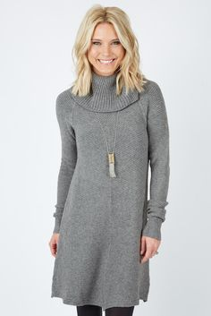Ribbed Cowl Sweater Dress | The #1 boutique for moms! $5 Flate Rate Shipping + FREE shipping on all orders over *$50.#Evereve