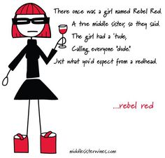 Rebel Red, with some Middle Sister poetry.