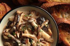 wild mushrooms a la creme