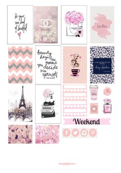 Free Printable Chanel Inspired Planner Stickers from Simply K Planner