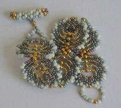 Peacock Feathers Beaded Bracelet