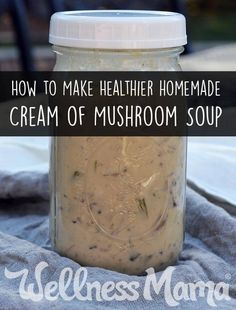 Homemade Cream of Mushroom Soup  This homemade cream of mushroom soup recipe tastes sooo much better than canned and doesn't contain MSG, soy protein, & vegetable oil.