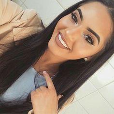 Tips de maquillaje para morenas Makeup On Fleek, Flawless Makeup, Cute Makeup, Gorgeous Makeup, Makeup Looks, Perfect Makeup, Perfect Lipstick, Makeup Eyebrows, Glamorous Makeup
