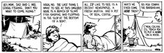 THE DAILY CALVIN: Calvin and Hobbes, June 20, 1988 - Uggh, no. The last think I want to see at this ungodly hour is a bunch of slimy fish gasping and flopping in the slop at the bottom of a boat.