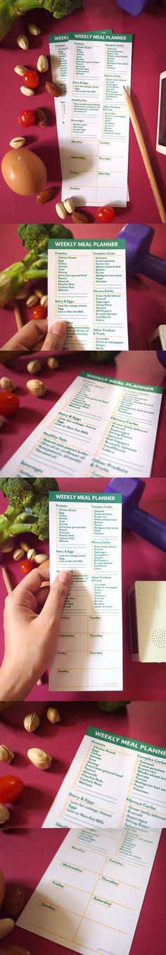 """Grocery list and Meal planner to keep you stay FIT!  Instant download after purchase! Items are printable PDF which are available right after purchase. Printable on A4 paper or some nice card paper will be more beautiful!  This is """"Fitness Grocery and Weekly Meal Planner"""" that I design for people that on diet or care healthy food or clean eating."""