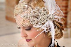Vintage Wedding Birdcage Veil: so amazing! Roaring 20s Wedding, Great Gatsby Wedding, Vintage Wedding Theme, 1920s Wedding, Art Deco Wedding, Chic Wedding, Perfect Wedding, Wedding Ideas, Wedding Themes