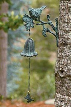 Perennial Flower Gardening - 5 Methods For A Great Backyard Reminds Me Of How Reese Loved Ringing The Neighbor's Chimes: Garden Gates, Garden Art, Garden Design, Garden Whimsy, Plantation, Garden Ornaments, Dream Garden, Garden Inspiration, Beautiful Gardens
