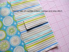 Modest Maven: Easy on the Pocket Crayon Wallet Tutorial