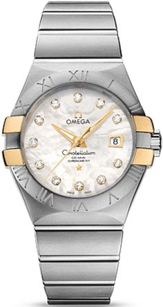 Omega Constellation Co-Axial 31 mm Brushed Steel & Red Gold Claws Omega Constellation Ladies, Rolex, Omega Co Axial, Omega Red, Brushed Stainless Steel, Adjustable Bracelet, Luxury Gifts, Watch Brands, Stainless Steel Bracelet