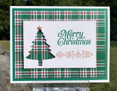 Stampin' Up! perfectly plaid, - Stampin' Up! perfectly plaid, Stampin' Up! Homemade Christmas Cards, Christmas Cards To Make, Xmas Cards, Homemade Cards, Handmade Christmas, Holiday Cards, Plaid Christmas, Christmas 2019, Stampinup Christmas Cards