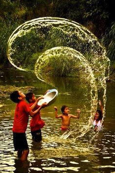 """""""Water Play"""" -- children from the Philippines having fun together in the water. Philippines, Love Photography, Village Photography, Children Photography, Timor Oriental, Filipino Culture, Living Water, Water Play, Jolie Photo"""