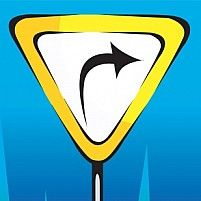 Illustration Of Arrow Printed Yellow Sign Board