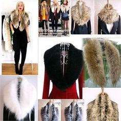 Women Shrug Winter Faux Fur Collar Scarf Warm Shawl Wrap Stole Cape Scarves new