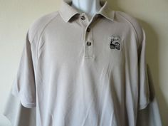 2008 US Open Torrey Pines Polo Shirt Adidas Golf Club Brown San Diego Size Large