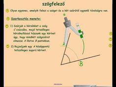 szögfelező szerkesztése Ecards, Keto, Education, E Cards, Onderwijs, Learning
