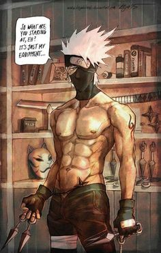 Kakashi - by KejaBlank, DeviantArt. This sensei is definitely a lady killer! I looove pictures like this of Kakashi-sensei! Kakashi Hokage, Kurama Naruto, Kakashi Sensei, Naruto Shippuden Anime, Boruto, Gaara, Kakashi Memes, Anime Naruto, Manga Anime