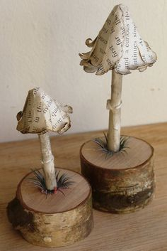Items similar to Paper Mushroom Woodlet - Inkcap Mushroom - Free Shipping on Etsy