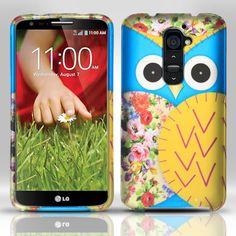 Zizo Rubberized Design Hard Case for LG G2 (Optimus G2) - Blue Owl