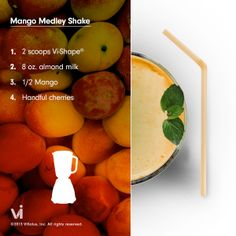Mango-cherry ViSalus shake