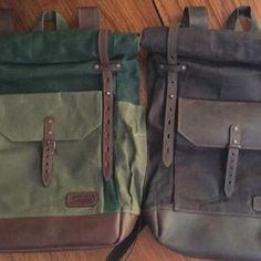 Travel waterproof rolltop backpack Waxed canvas and leather. Waxed Canvas Bag, Canvas Backpack, Canvas Leather, Macbook, Hipster Backpack, Laptop Backpack, Travel Backpack, Laptop Bags, Leather Crossbody Bag