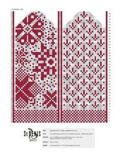 Crochet Abbreviations in US, UK, Danish and German. Knitting Charts, Loom Knitting, Knitting Socks, Hand Knitting, Knitting Patterns, Knitted Mittens Pattern, Knit Mittens, Knitted Gloves, Wedding Cross Stitch Patterns