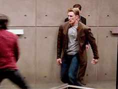 Chris and Sebastian > I love how they can do most of their fight scenes! That's what makes it % cooler