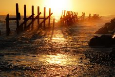 Frail defences at dawn by Marmaduke., via Flickr