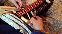 More inkle weaving!  On our little inkle looms...