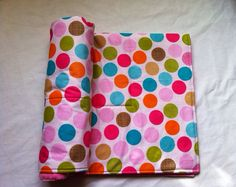 Minky BABY Girl Polka-Dot Blanket by TulipBoutique on Etsy