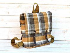 Waterproof  Backpack in MUSTARD Honey Gold titanium by ikabags