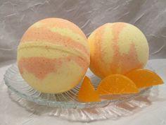Mango Tangerine Bath Bomb Fizzy by GlowBodyandSoul on Etsy, $3.50