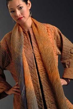 Kiss of the Wolf incorporates fine textured fabrics, intricate color palates, and varied patterns.