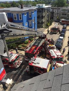 Boston Fire Department. #Aerial View of apparatus. #Setcom #Rescue #Ladder.