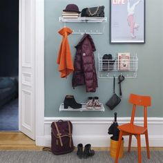 Mitten Shelf from Maze by Olof Kolte Entrance Ways, Shelving Systems, Swedish Design, Scandinavian Interior, New Kitchen, Interior Inspiration, Shoe Rack, Small Spaces, Entryway