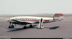 June 1, 1958 at BOS, TWA Lockheed L-049 Constellation.