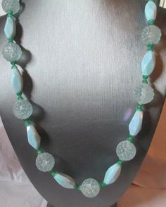 Vintage Made In Austria Blue Iridescent Beaded by KulturePop, $22.00