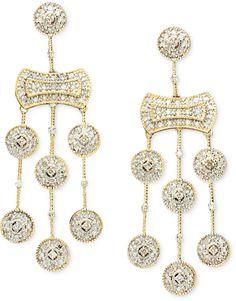 Wrapped in LoveTM Diamond Chandelier Earrings in 14k Gold (1/2 ct. t.w.) on shopstyle.com