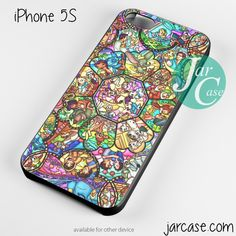 disney characters stained glass Phone case for iPhone 4/4s/5/5c/5s/6/6 – JARCASE