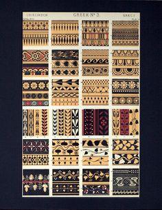 Greek Pattern, Pattern Art, Pattern Design, Graphic Design Books, Book Design, Textures Patterns, Fabric Patterns, Tribal Patterns, Afrika Tattoos