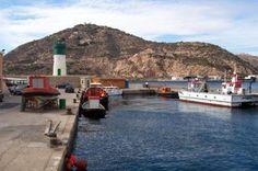 Faro del Dique de la Curra. Puerto de Cartagena / Murcia / Spain