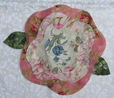 french rose quilt block - Google Search