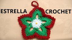 Realización de estrellas de navidad para adorno, árbol navideño en tejido crochet o ganchillo. Pueden ver la explicación y el gráfico en el siguiente enlace:...